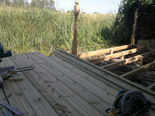 Decking, Fencing & Turfing during Willow Landscapes work