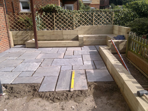 Patios, Driveways & Brickwork during Willow Landscapes work