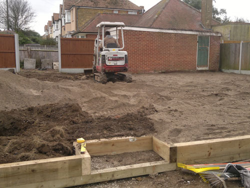 Garden design before Willow Landscapes started work