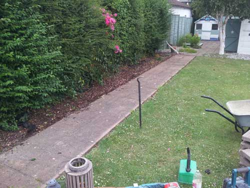 Decking, Fencing & Turfing before Willow Landscapes work